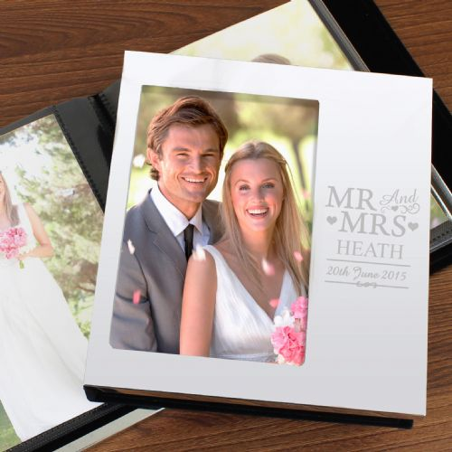 Personalised Mr & Mrs Photo Album 6x4